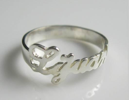 925 純銀 DIY 字母戒指