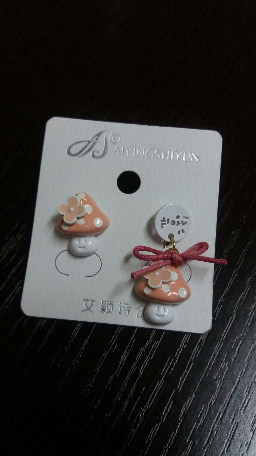 精緻蘑菇耳環