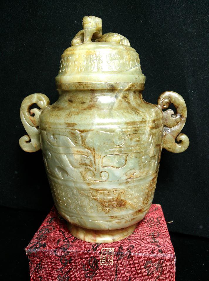 和田玉螭龍玉寶瓶