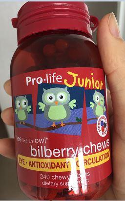 紐西蘭Pro-life 兒童藍莓越橘(Bilberry)護眼咀嚼片-240粒