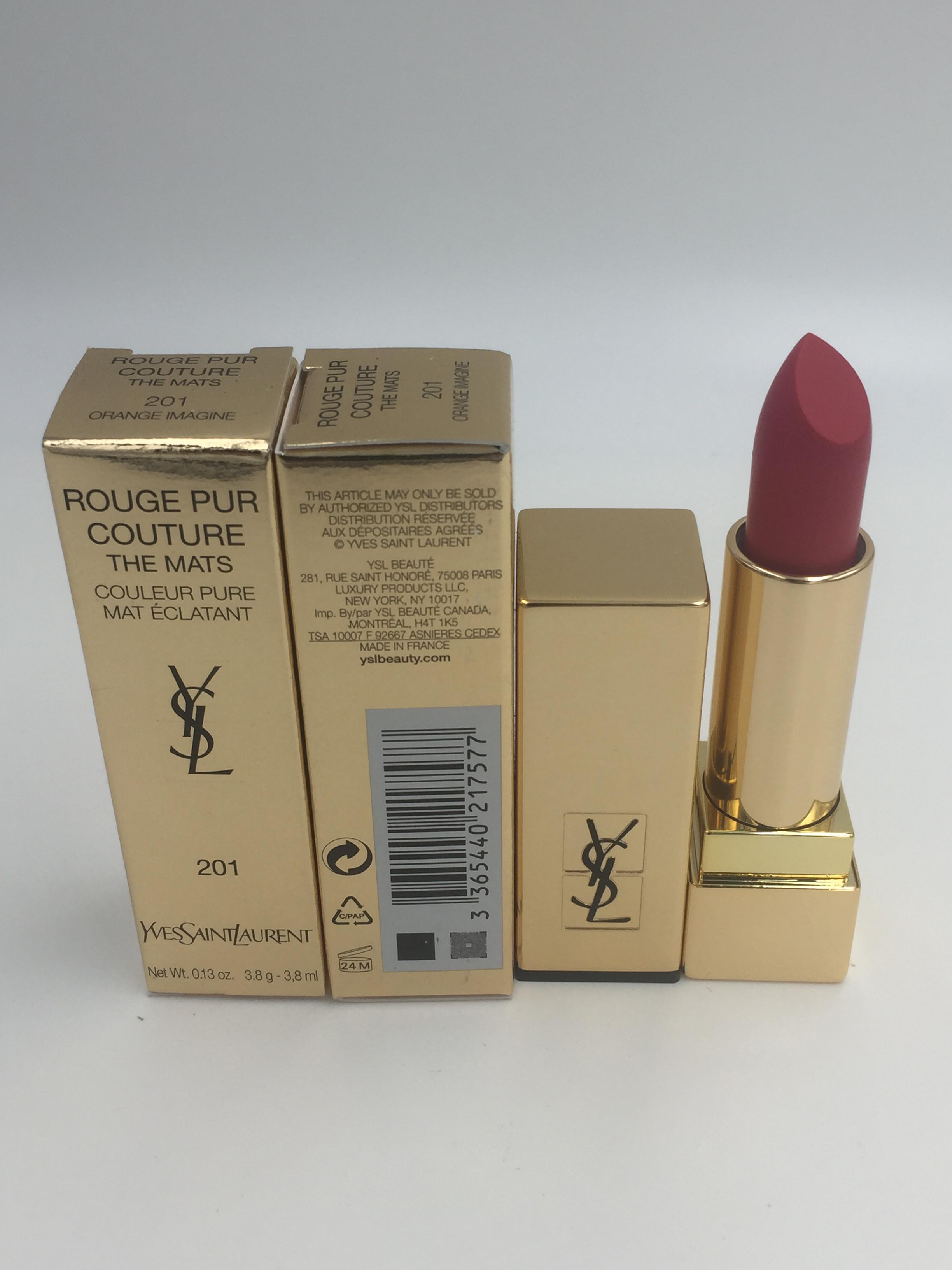 「全新現貨」YSL Rouge Pur Couture The Mats - # 201 Orang